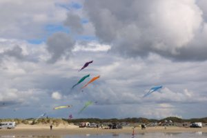 Flugdrachen am Strand