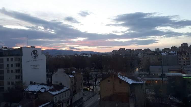 Blick aus meinem Fenster auf das Vitoscha-Gebirge