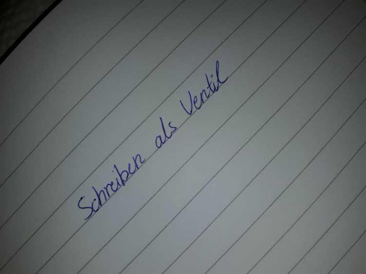 Handschriftlich geschrieben: Schreiben als Ventil
