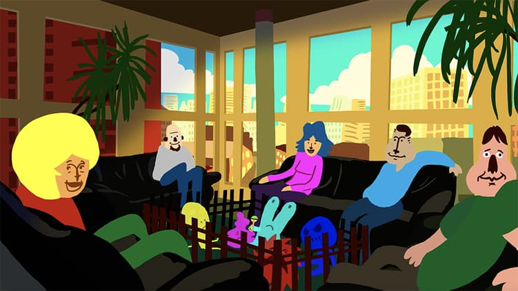 Menschen sitzen zusammen in einer Selbsthilfegruppe
