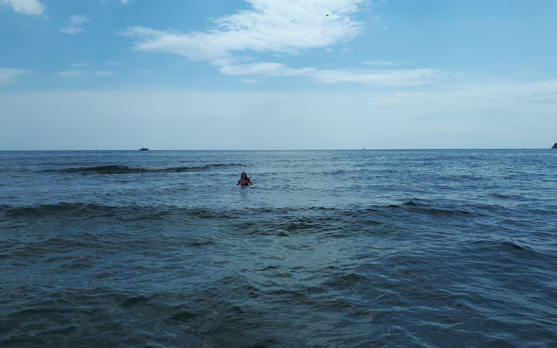Mandy im Meer